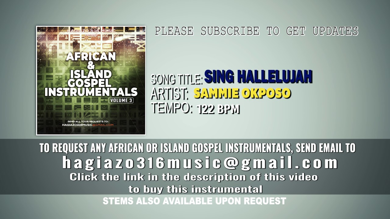 Sammie Okposo – Sing Hallelujah (Instrumental) mp3 download
